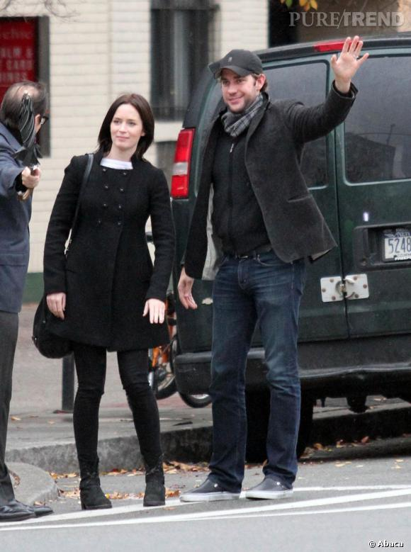 Emily Blunt dans les rues de New York.
