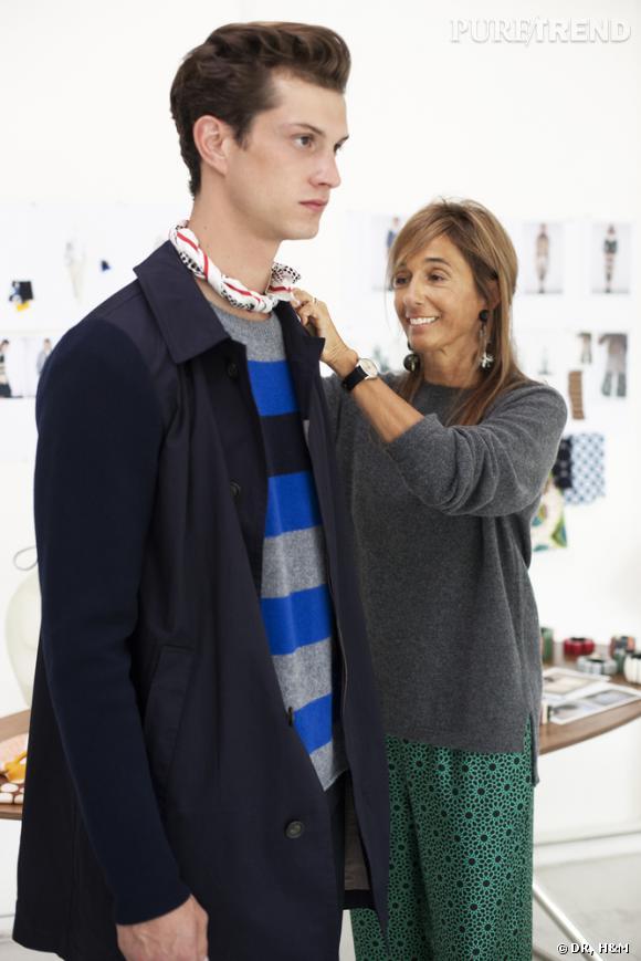 """Le Suédois H&M a annoncé sa nouvelle collaboration """"créateur"""". La maison invitée : Marni. Et les hommes ne sont une  fois de plus pas oubliés. Manteaux, pulls, pantalons et sandales, le printemps 2012 sera chic mais pas ennuyeux. Sortez vos rayures et n'ayez plus peur des couleurs. Àpartir du 8 mars 2012."""