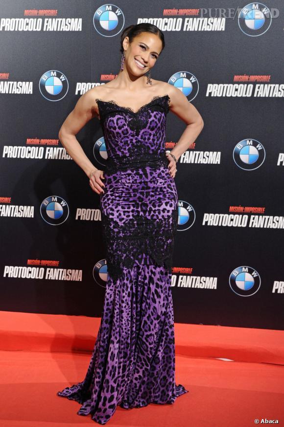 """Paula Patton lors de la première madrilène de """"Mission Impossible : Protocole fantôme""""."""
