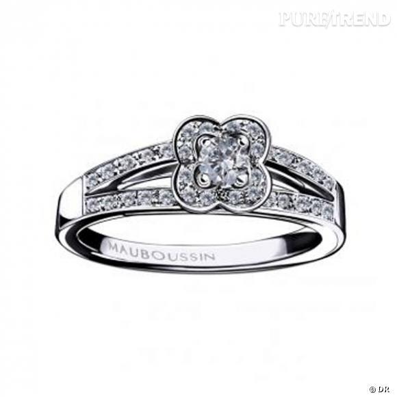 Préférence Bague Chance of Love, Mauboussin Bague en or blanc et diamants  RV88