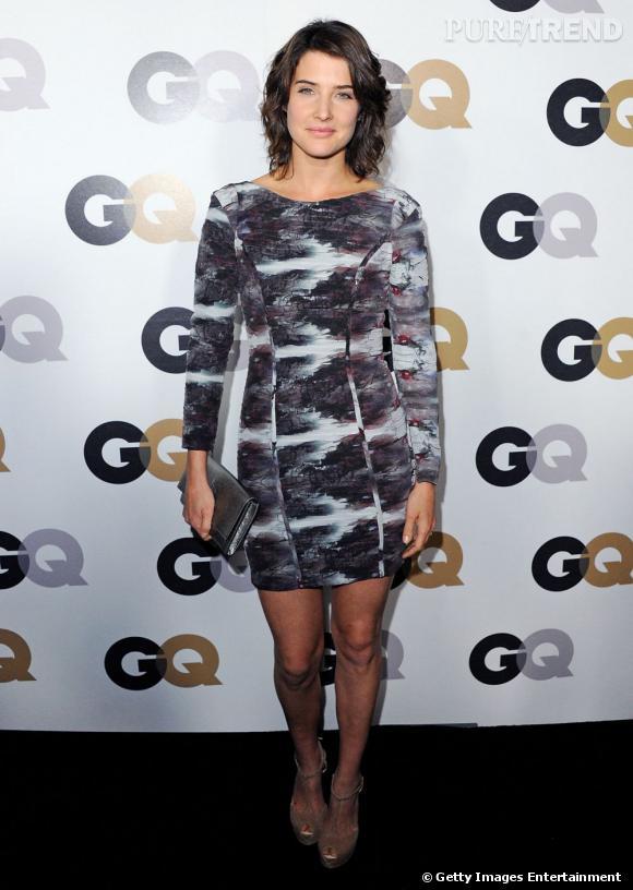 Cobie Smulders porte une robe Rebecca Minkoff, mode et sexy.