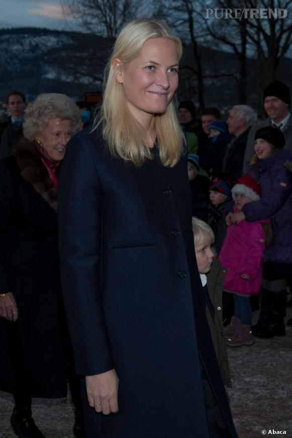 La princesse Mette-Marit de Norvège à la messe de minuit.