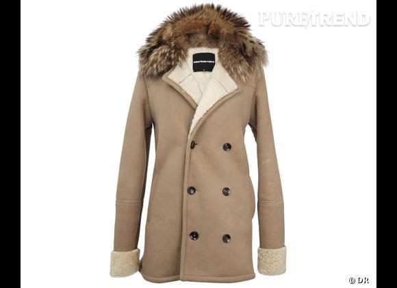 Zoom sur la fourrure : le shopping     Manteau lainé  Jennifer , American Retro, 995 €.