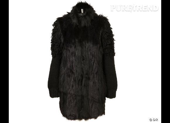 Zoom sur la fourrure : le shopping     Manteau en fausse fourrure Topshop, 156 € sur  fr.topshop.com .