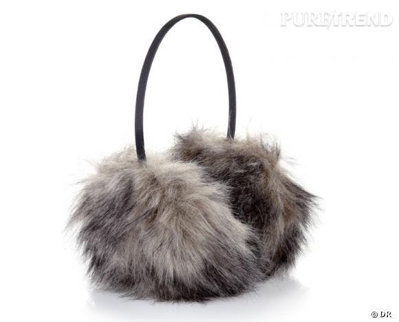 Zoom sur la fourrure : le shopping     Cache-oreilles en fausse fourrure Accessorize, 24,90 €.