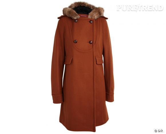 Zoom sur la fourrure : le shopping     Manteau Comptoir des Cotonniers, 295 €.