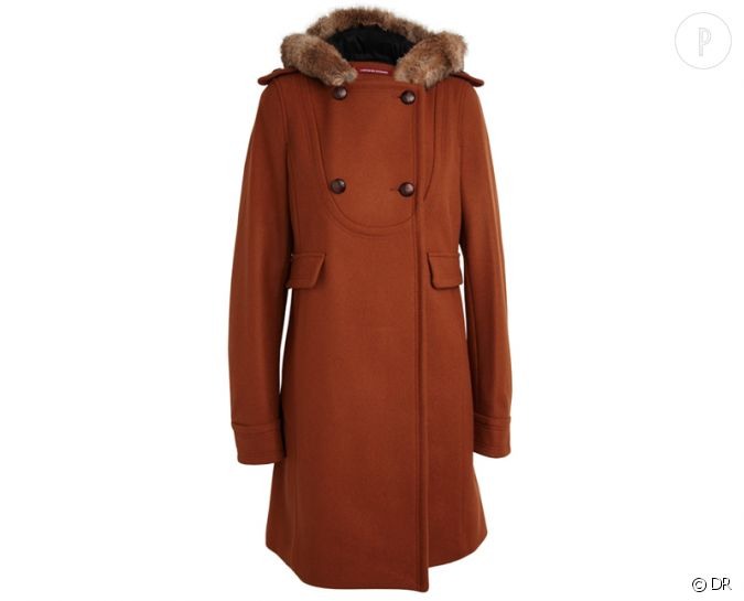Zoom sur la fourrure le shopping manteau comptoir des - Manteau rouge comptoir des cotonniers ...