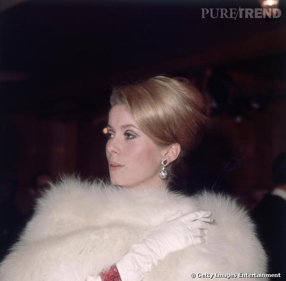 La fourrure adoptée par les stars     Catherine Deneuve.