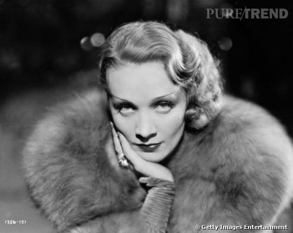 La fourrure adoptée par les stars    Marlene Dietrich.