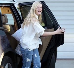 Elle Fanning, pyjama party !