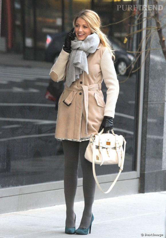 Blake Lively s'affiche dans un look hivernal parfaitement orchestré.