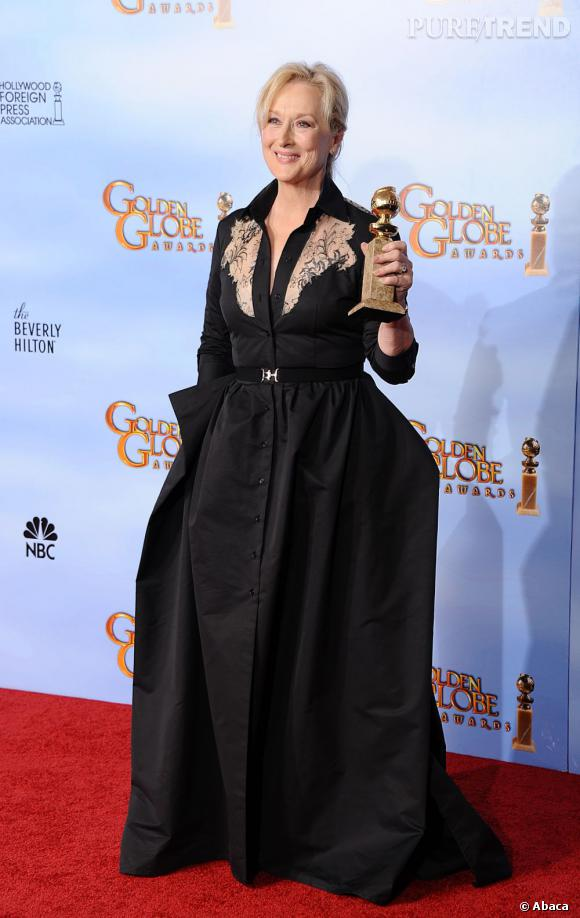 "Meryl Streep, meilleure actrice dramatique pour ""The Iron Lady""."