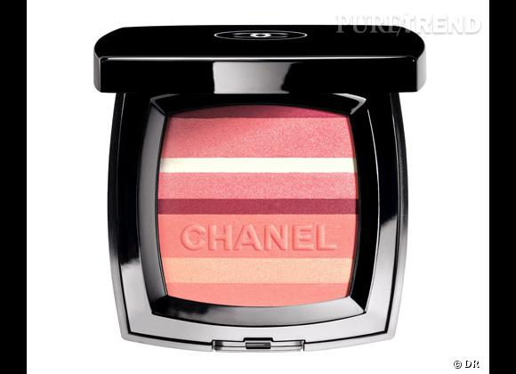Les plus belles palettes Une combinaison de cinq nuances de blush que l'on peut varier, séparer ou mélanger selon nos envies. Blush Horizon, Chanel, 55 €.