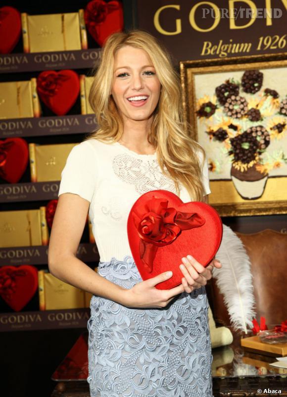 Blake Lively dévoile le nouveau concours Godiva organisé à l'occasion de la Saint Valentin.