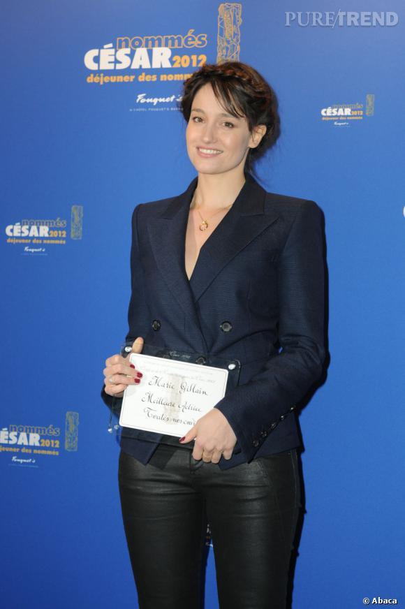 Marie Gillain au diner organisé au Fouquet's en l'honneur des nommés aux César.