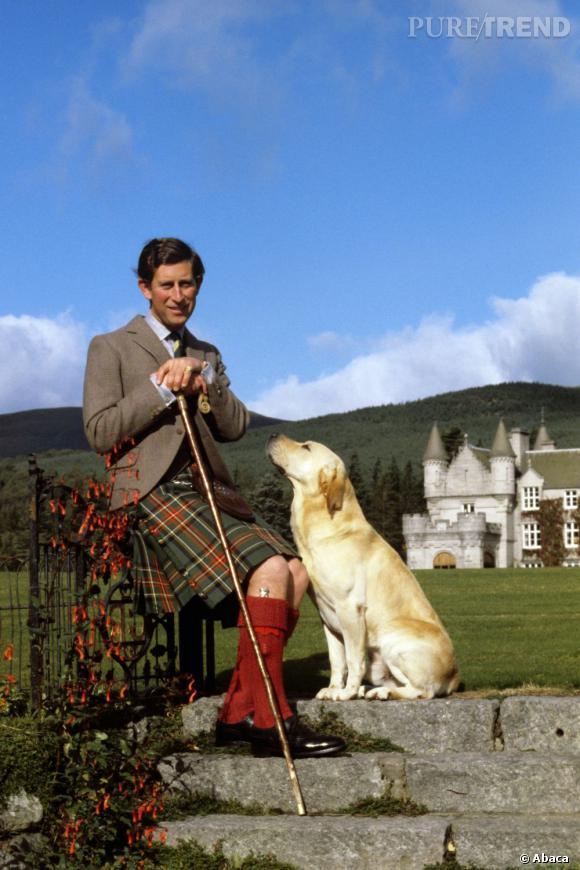Prince Charles, so british avec son labrador.