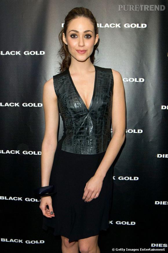 Emmy Rossum chez Diesel Black Gold.
