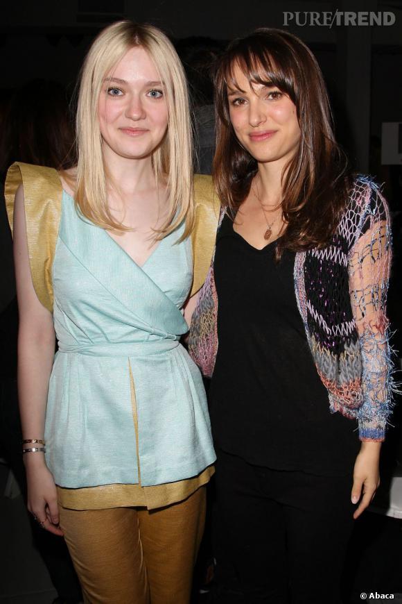 Dakota Fanning et Natalie Portman chez Rodarte.