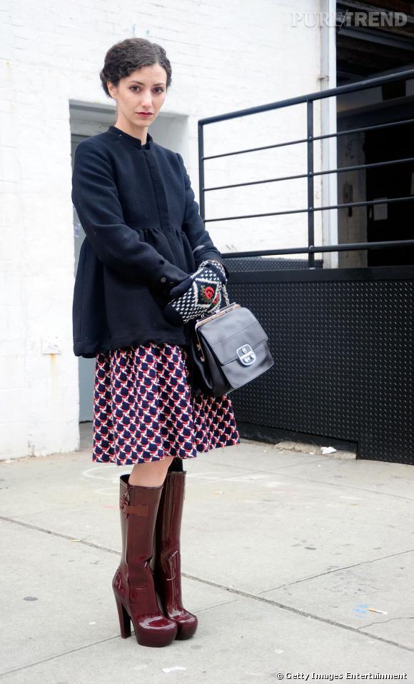 Bevorzugt La sobriété d'une veste noire, boostée par une jupe à l'imprimé  UR54