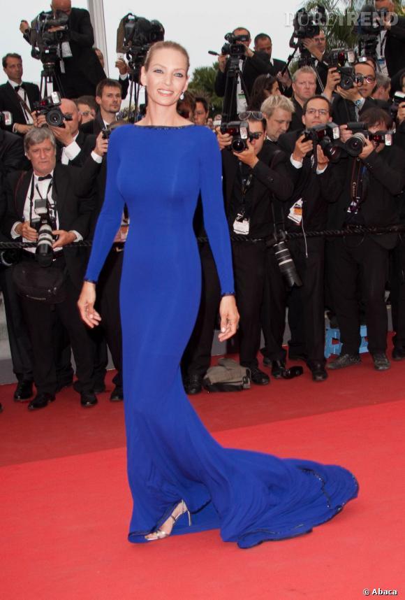 La robe ultra-moulante :   l'allure de sirène hollywoodienne est très chère à Uma Thurman qui sait toujours comment avoir fière allure sur tapis rouge. A Cannes en Armani Privé, elle a fait sensation.
