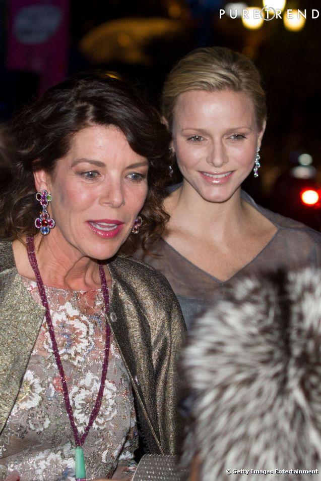 Prince Albert II and Princess Charlene of Monaco leaving