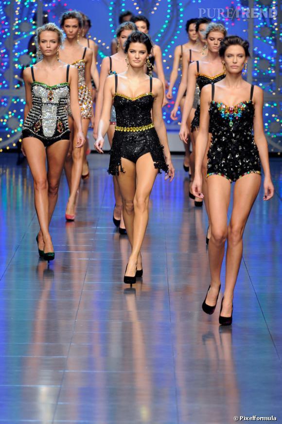 Défilé Dolce & Gabbana, Printemps-Eté 2012.