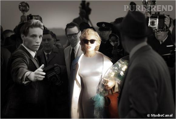 """Michelle Williams se glisse dans la peau d'une des plus grandes stars du cinéma dans """"My Week With Marilyn"""" de Simon Curtis le 4 avril 2012."""