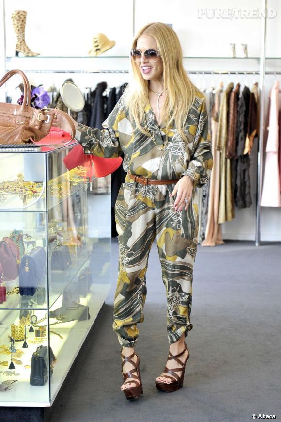 Rachel Zoe, virée shopping à Los Angeles.