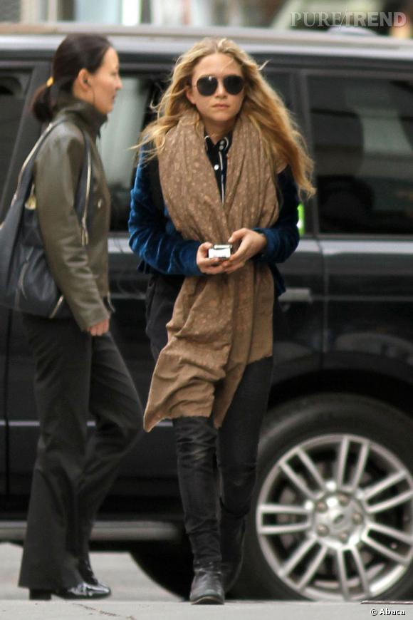 Mary-Kate Olsen, une vraie modeuse dans les rues de New York.