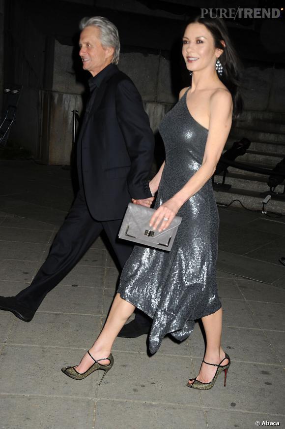 Catherine Zeta-Jones à la soirée Vanity Fair à New York.