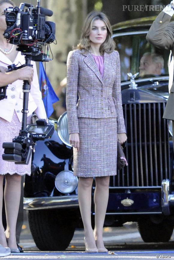 Letizia Ortiz le chic de la famille royale.