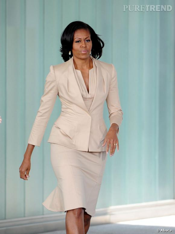Michelle Obama à Chicago, toujours plus chic.