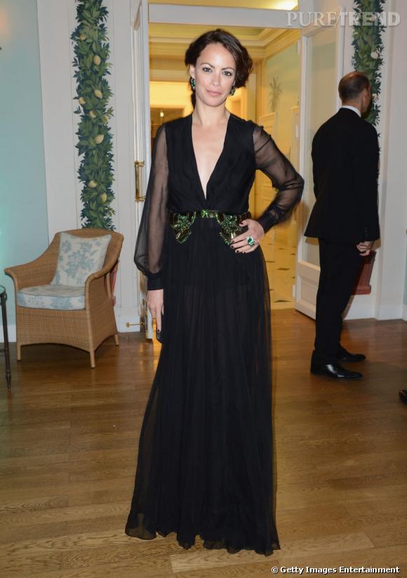 Bérénice Bejo lors de la soirée Gucci et Vanity Fair samedi dernier.