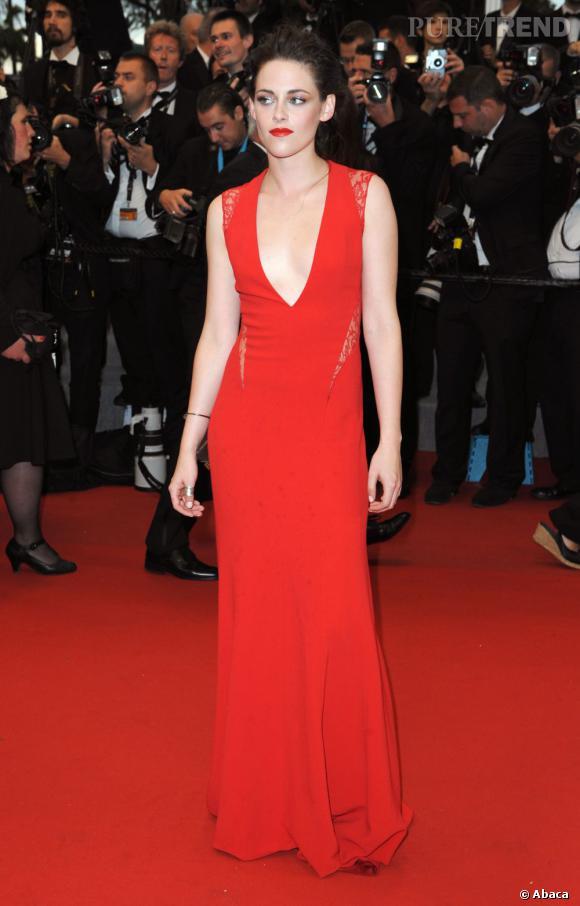 Plus à l'aise que d'habitude sur tapis rouge, l'actrice nous séduit.