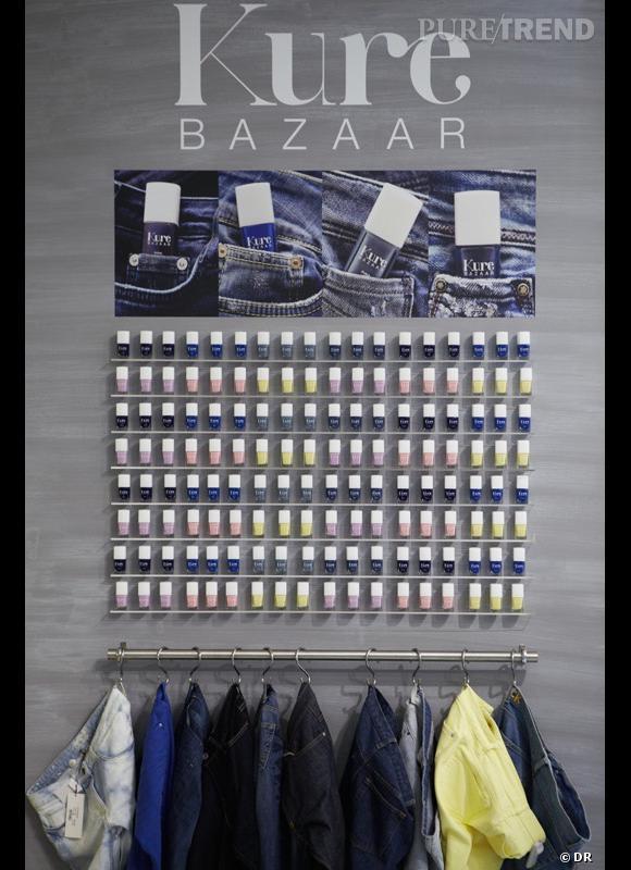 Les bleus et les pastels de Kure Bazaar.