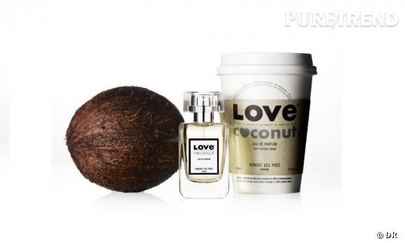 Mon vanity part en vacances : Eau de parfum Love Coconut, Honoré des Près, 76 € Une eau de parfum d'origine 100% naturelle qui sent bon le soleil et les plages de sable fin.