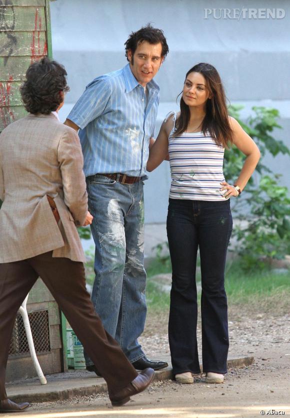 Mila Kunis, très en forme pour ce tournage dont on a hâte de voir le résultat.