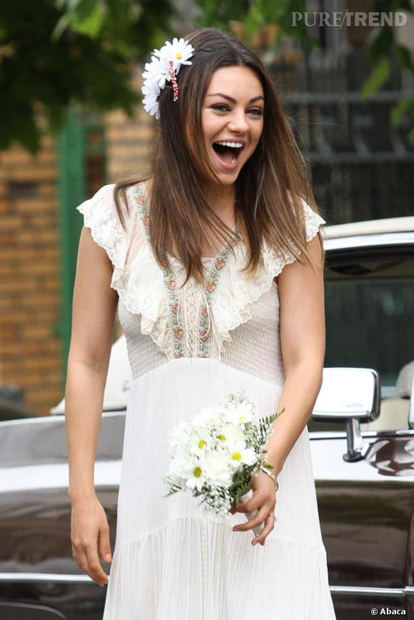 """Mila Kunis, vive la mariée sur le tournage de """"Blood Ties"""" !"""