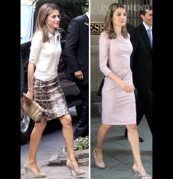 Letizia Ortiz à New York en deux looks