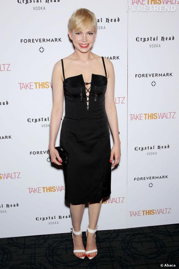 """Michelle Williams à la projection du film """"Take This Waltz"""" à New York le 21 juin."""