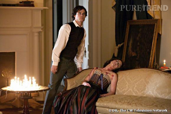 """A l'écran :  Damon Salvatore, le vampire cinique et sans scrupule de """"Vampire Diaries""""."""