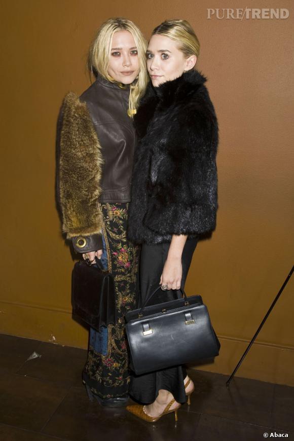 Mary-Kate et Ashley Olsen, des fanatiques de la fourrure.