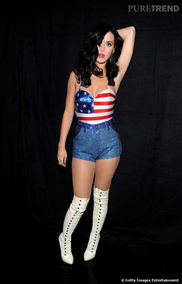 Katy Perry, fière patriote de son pays.