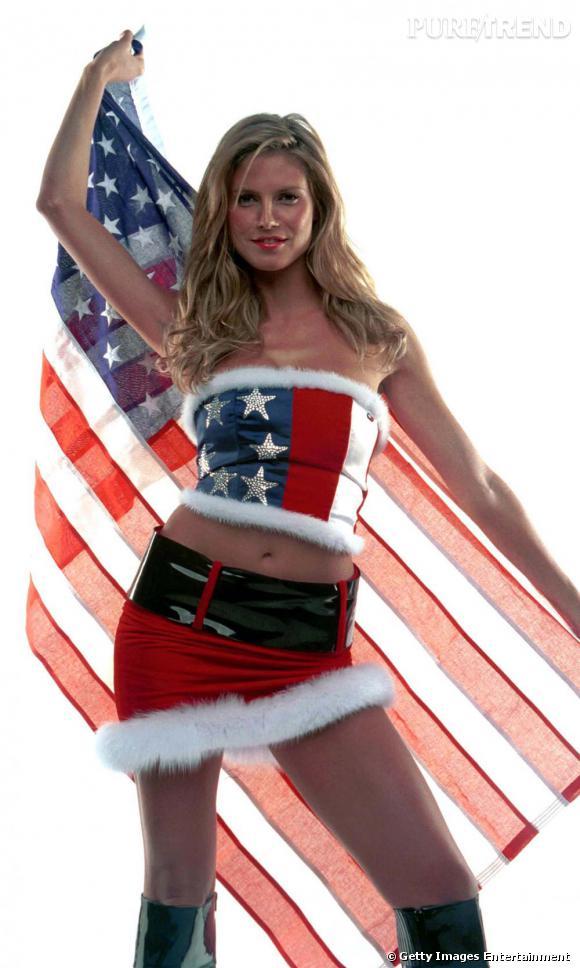 Heidi Klum aussi mise la carte du sex-appeal pour montrer les couleurs de son pays.