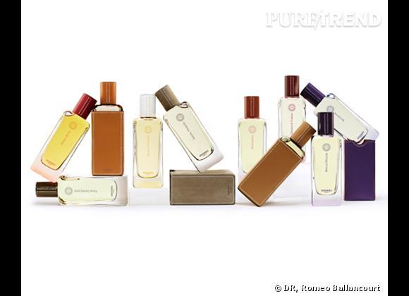 La collection Hermessence d'Hermès se compose de dix fragrances.