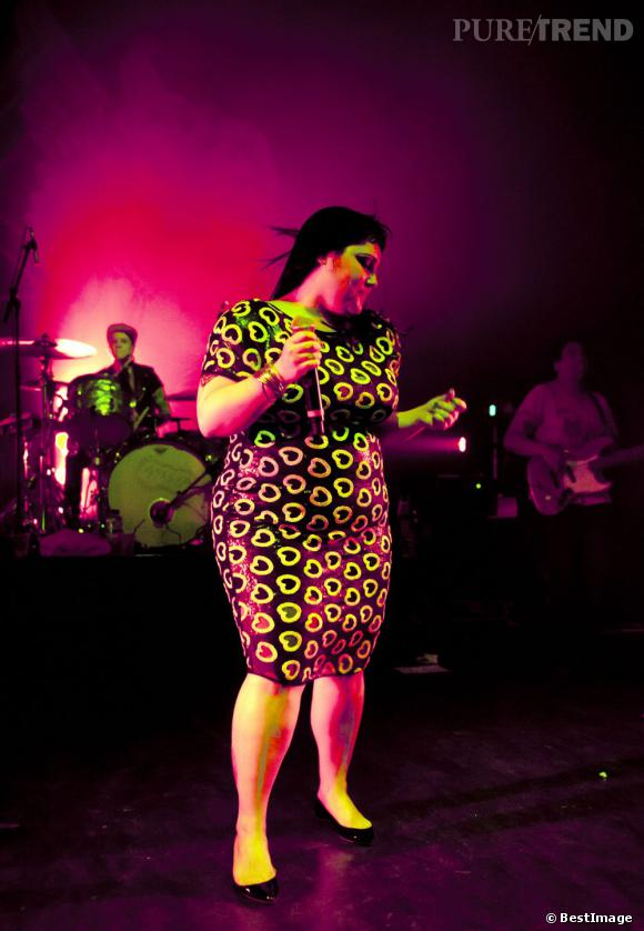 Beth Ditto en concert au Shepherd's Bush Empire à Londres.