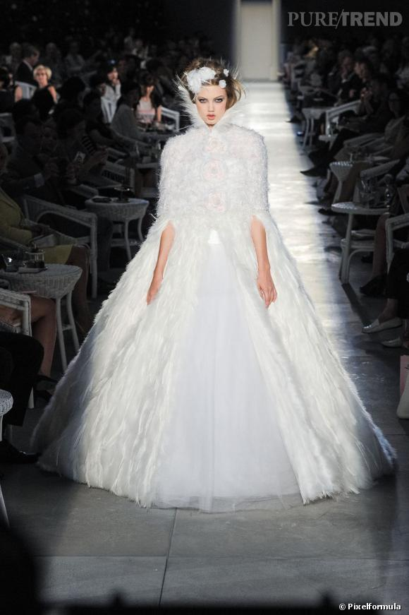 Robe de mariée Haute Couture Chanel Défilé Automne-Hiver 2012/2012