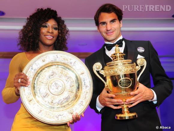Serena Williams et Roger Federer, les deux gagnants du tournoi de Wimbledon 2012.