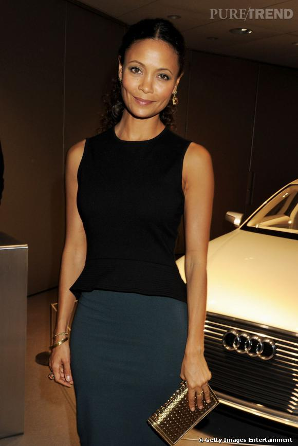 "Thandie Newton à l'ouverture du showroom digital ""City"" de la marque Audi à Londres."