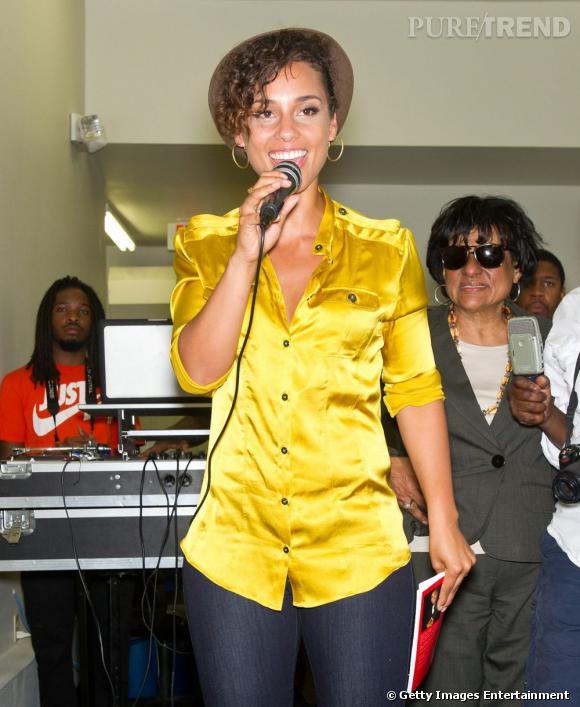 Alicia Keys semble avoir fait le fond de son placard !